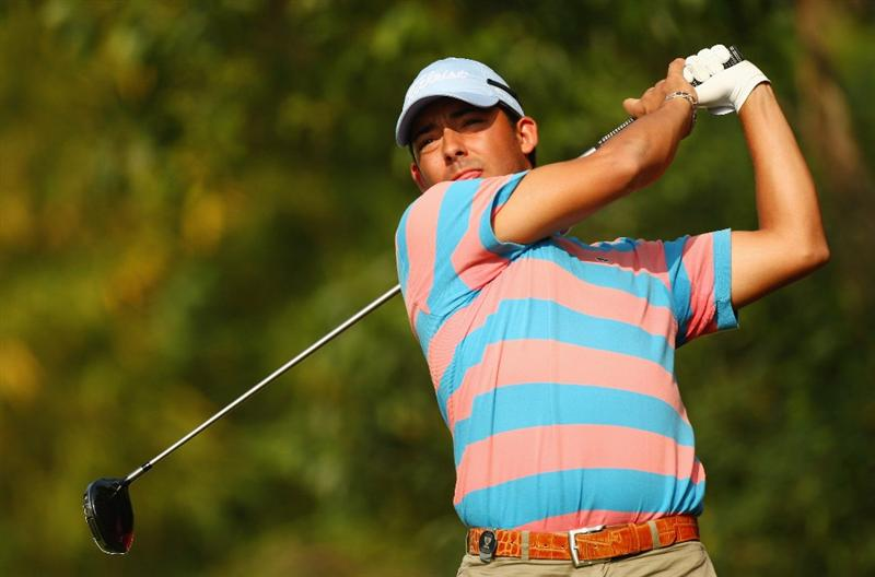 SHENZHEN, CHINA - NOVEMBER 26:  Pablo Larrazabal of Spain in action during the Pro - Am of the Omega Mission Hills World Cup at the Mission Hills Resort on November 26, 2008 in Shenzhen, China.  (Photo by Ian Walton/Getty Images)