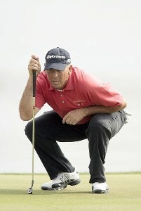 Tom Lehman reads a putt during the second round of the 2007 Arnold Palmer Invitational at the Bay Hill Club and Lodge in Orlando, Florida. March 16, 2007 PGA TOUR - 2007 Arnold Palmer Invitational - Second RoundPhoto by Pete Fontaine/WireImage.com