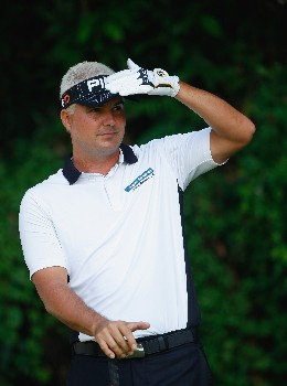 HONG KONG - NOVEMBER 15:  Daniel Chopra of Sweden watches his tee shot on the 14th hole during the first round of the UBS Hong Kong Open at the Hong Kong Golf Club on November 15, 2007 in Fanling, Hong Kong.  (Photo by Stuart Franklin/Getty Images)