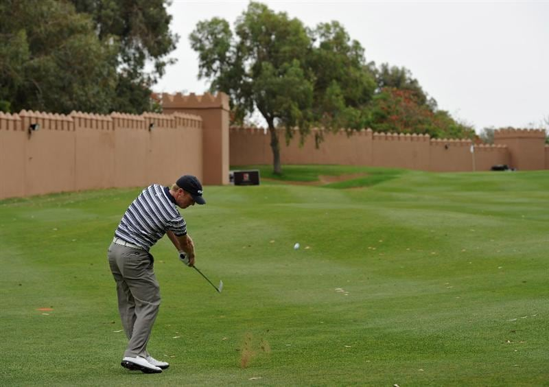 AGADIR, MOROCCO - APRIL 02:  David Horsey of England plays his approach shot on the nineth hole during the third round of the Trophee du Hassan II Golf at the Golf du Palais Royal on April 2, 2011 in Agadir, Morocco.  (Photo by Stuart Franklin/Getty Images)