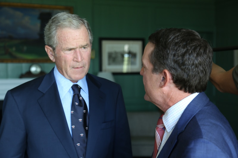President George W. Bush with Jimmy Roberts