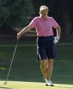 Dawn Coe-Jones in the fourth fairway during the final round of the Safeway Classic at Columbia-Edgewater Country Club in Portland, Oregon on August 20, 2006.Photo by Al Messerschmidt/WireImage.com