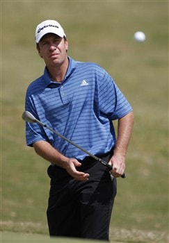LAFAYETTE, LA - MARCH 27:  Todd Fischer watches his chip to the 11th hole during the first round of the 2008 Chitimacha Louisiana Open at the Le Triomphe Country Club March 27, 2008 in LaFayette, Louisiana.  (Photo by Dave Martin/Getty Images)