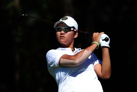 OTTAWA - AUGUST 17:  Yani Tseng of Taiwan makes a tee shot on the fourth hole during the final round of the CN Canadian Women's Open at the Ottawa Hunt and Golf Club August 17, 2008 in Ottawa, Ontario, Canada.  (Photo by Robert Laberge/Getty Images)