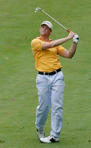 James Driscoll makes an approach shot during the first round of the Xerox Classic August 16, 2007 held at Irondequoit Country Club in Rochester, New York. Nationwide Tour - 2007 Xerox Classic - First RoundPhoto by Jim Rogash/WireImage.com