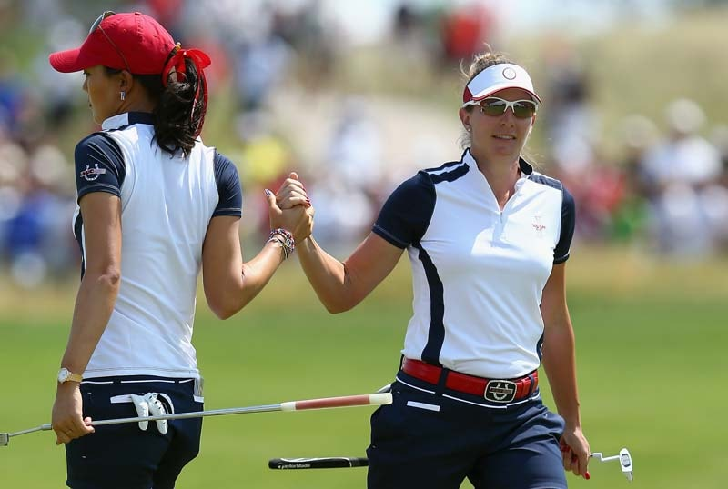 Michelle Wie and Brittany Lang