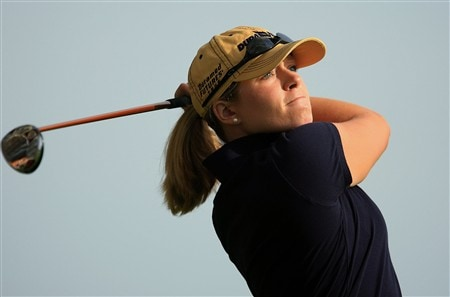 EDINA, MN - JUNE 25:  Leah Wigger hits a shot during a practice round prior to the start of the 2008 U.S. Women's Open at Interlachen Country Club on June 25, 2008 in Edina, Minnesota.  (Photo by Scott Halleran/Getty Images)
