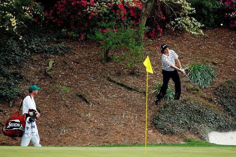 AUGUSTA, GA - APRIL 11:  Tim Clark of South Africa plays a shot from behind on the 12th green during the third round of the 2009 Masters Tournament at Augusta National Golf Club on April 11, 2009 in Augusta, Georgia.  (Photo by Jamie Squire/Getty Images)