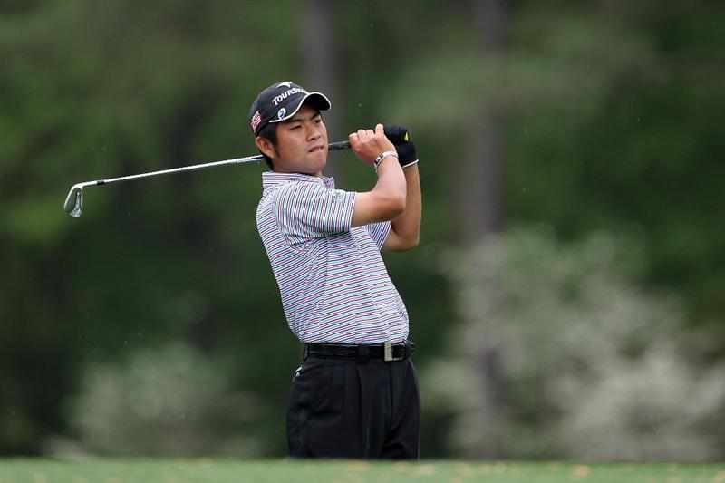 AUGUSTA, GA - APRIL 08:  Yuta Ikeda of Japan hits his tee shot on the 12th hole during the first round of the 2010 Masters Tournament at Augusta National Golf Club on April 8, 2010 in Augusta, Georgia.  (Photo by Jamie Squire/Getty Images)