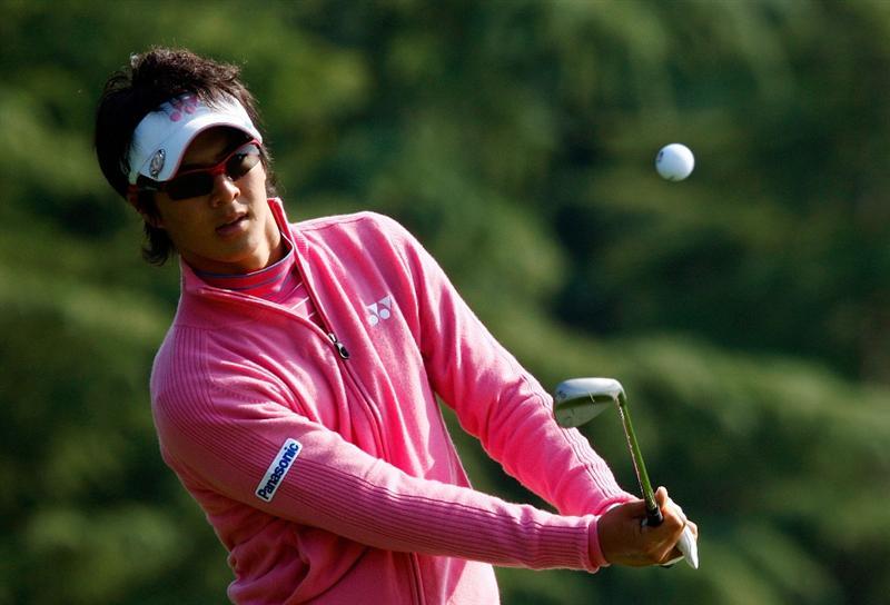 SHANGHAI, CHINA - NOVEMBER 03:  Ryo Ishikawa of Japan hits a shot during a practice round prior to the start of the WGC-HSBC Champions at Sheshan International Golf Club on November 3, 2009 in Shanghai, China.  (Photo by Scott Halleran/Getty Images)