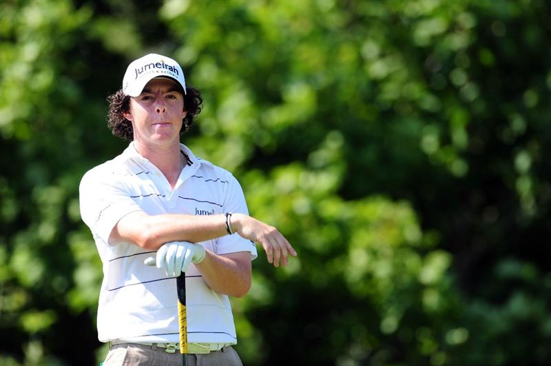 CHASKA, MN - AUGUST 14:  Rory McIlroy of Northern Ireland waits on the tenth tee during the second round of the 91st PGA Championship at Hazeltine National Golf Club on August 14, 2009 in Chaska, Minnesota.  (Photo by Stuart Franklin/Getty Images)