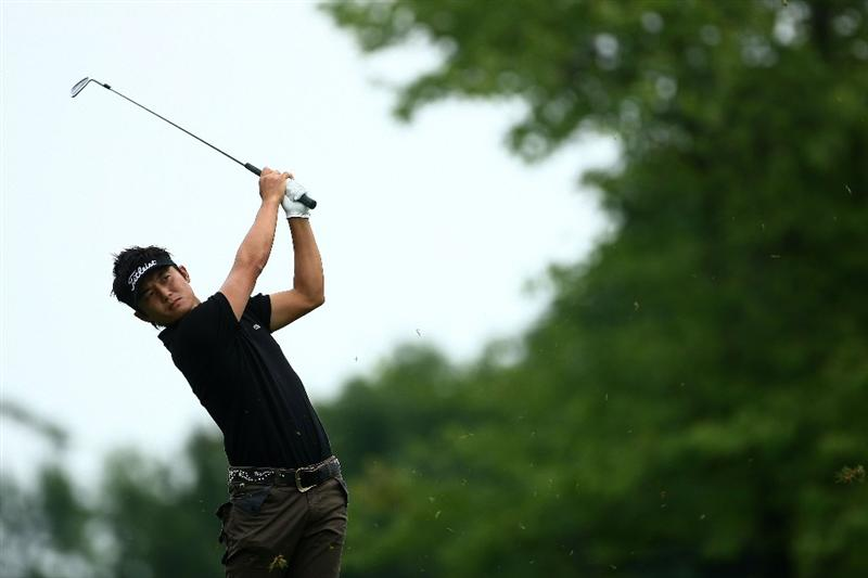 OAKVILLE, ONTARIO, CANADA - JULY 25: Ryuji Imada plays his second shot on the ninth hole during round two of the RBC Canadian Open at Glen Abbey Golf Club on July 25, 2009 in Oakville, Ontario, Canada.  (Photo by Chris McGrath/Getty Images)