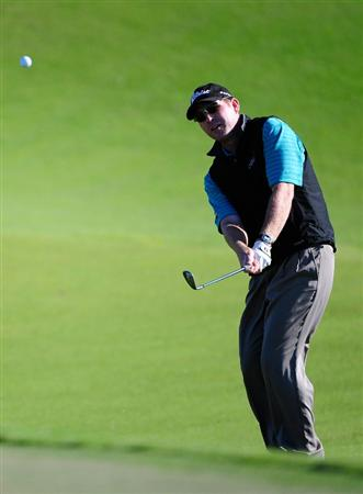 PALM COAST, FL - OCTOBER 30:  Troy Matteson plays a shot on the 4th hole during the first round of the Ginn sur Mer Classic at the Conservatory Golf Club in Palm Coast, Florida on October 30, 2008.  (Photo by Sam Greenwood/Getty Images)