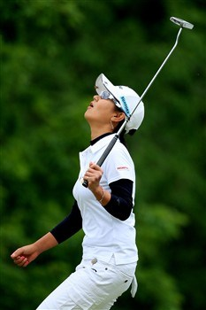 EDINA, MN - JUNE 28:  Ai Miyazato of Japan reacts to missing her birdie putt on the third hole during the third round of the 2008 U.S. Women's Open at Interlachen Country Club on June 28, 2008 in Edina, Minnesota.  (Photo by Travis Lindquist/Getty Images)