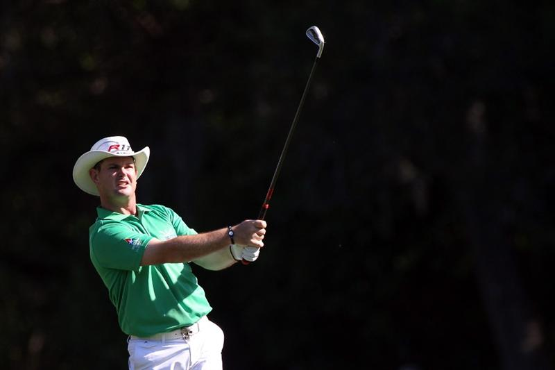 PALM HARBOR, FL - MARCH 17:  Rory Sabbatini of South Africa plays a shot on the 11th hole during the first round of the Transitions Championship at Innisbrook Resort and Golf Club on March 17, 2011 in Palm Harbor, Florida.  (Photo by Sam Greenwood/Getty Images)