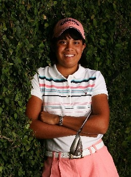 SUPERSTITION MOUNTAIN, AZ - MARCH 21:  LPGA player Julieta Granada of Paraguay poses for a portrait prior to the start of the Safeway International at the Superstition Mountain Golf and Country Club on March 21, 2007 in Superstition Mountain, Arizona.  (Photo by Scott Halleran/Getty Images)