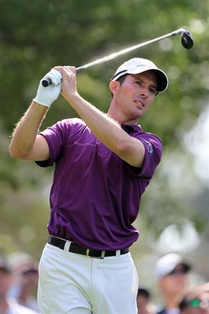 AUGUSTA, GA - APRIL 08:  Mike Weir of Canada hits his tee shot on the fourth hole during the first round of the 2010 Masters Tournament at Augusta National Golf Club on April 8, 2010 in Augusta, Georgia.  (Photo by Jamie Squire/Getty Images)