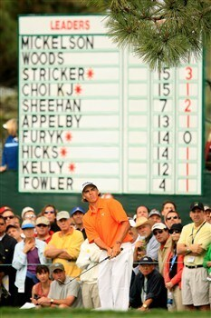 SAN DIEGO - JUNE 12:  Amateur Rickie Fowler chips on the sixth hole during the first round of the 108th U.S. Open at the Torrey Pines Golf Course (South Course) on June 12, 2008 in San Diego, California.  (Photo by Scott Halleran/Getty Images)