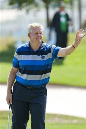 HUA HIN, THAILAND - JANUARY 09: Colin Montgomerie of Scotland in action on the 5th hole during day three of The Royal Trophy tournament at Black Mountain Golf Club on January 9, 2011 in Hua Hin, Thailand.  (Photo by Athit Perawongmetha/Getty Images)