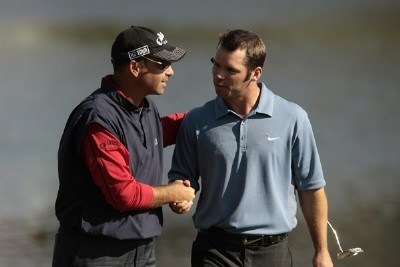 Rocco Mediate (R) and Paul Casey shake hands after the final round of the 2007 Arnold Palmer Invitational at the Bay Hill Club and Lodge in Orlando, Florida. March 18, 2007 PGA TOUR - 2007 Arnold Palmer Invitational - Final RoundPhoto by Pete Fontaine/WireImage.com