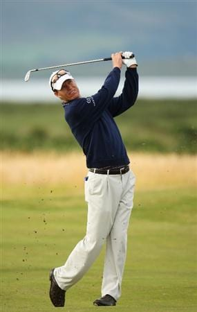 TURNBERRY, SCOTLAND - JULY 15:  John Senden of Australia hits a shot during a practice round prior to the 138th Open Championship on the Ailsa Course, Turnberry Golf Club on July 15, 2009 in Turnberry, Scotland.  (Photo by Ross Kinnaird/Getty Images)