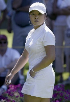 Jeong Jang during the final round of the 2005 Safeway Classic at Columbia Edgewater Country Club, Sunday,  August 21, 2005. Tournament champion Soo-Yun Kang won her first LPGA event at 15 under par. Shooting a 64, 68, 69.Photo by Allan Campbell/WireImage.com