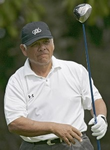 Lee Trevino in action during the first round of the Toshiba Classic, March 17, 2006, held at Newport Beach Country Club, Newport Beach, California. Photo by Gregory Shamus/WireImage.com