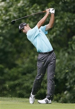 BETHESDA, MD - JULY 4: Charles Howell III hits his tee shot on the 14th hole during the second round of the AT&T National at Congressional Country Club on July 4, 2008 in Bethesda, Maryland. (Photo by Hunter Martin/Getty Images)
