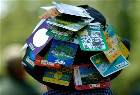 AUGUSTA, GA - APRIL 13:  A patron watches the play during the final round of the 2008 Masters Tournament at Augusta National Golf Club on April 13, 2008 in Augusta, Georgia.  (Photo by Jamie Squire/Getty Images)