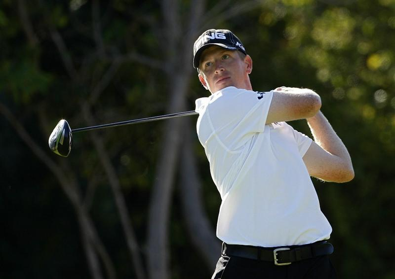 PLAYA DEL CARMEN, MEXICO - FEBRUARY 24:  Martin Piller hits a drive during the first round of the Mayakoba Golf Classic at Riviera Maya-Cancun held at El Camaleon Golf Club on February 24, 2011 in Playa del Carmen, Mexico.  (Photo by Michael Cohen/Getty Images)