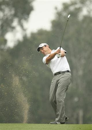 HONG KONG - NOVEMBER 18:  Simon Khan of England looks on after playing a shot during day one of the UBS Hong Kong Open at The Hong Kong Golf Club on November 18, 2010 in Hong Kong, Hong Kong.  (Photo by Ian Walton/Getty Images)