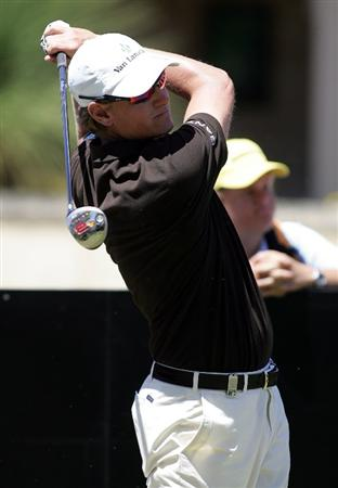 PERTH, AUSTRALIA - FEBRUARY 18:  Maarten Lafeber tees off during the 2009 Johnnie Walker Classic Pro Am held at The Vines Golf Club February 18, 2009 in Perth, Australia.  (Photo by Paul Kane/Getty Images)