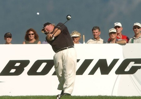 Craig Stadler in action on the 18th green during the first round of the 2005 Boeing Greater Seattle Classic at TPC Snoqualmie in Snoqualmie, Washington August 19, 2005.Photo by Steve Grayson/WireImage.com