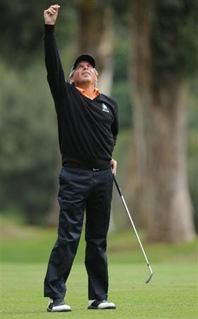 PACIFIC PALISADES, CA - FEBRUARY 18:  Fred Couples ponders his approach shot on the 13th hole during the second round of the Northern Trust Open at Riviera Country Club on February 18, 2011 in Pacific Palisades, California.  (Photo by Stuart Franklin/Getty Images)