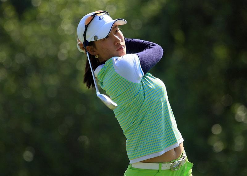 HUIXQUILUCAN, MEXICO - MARCH 21:  Chella Choi of South Korea hits her tee shot on the 11th hole during the second round of the MasterCard Classic at the BosqueReal Country Club on March 21, 2009 in Huixquiucan, Mexico.  (Photo by Scott Halleran/Getty Images)