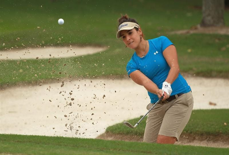 RIO DE JANEIRO, BRAZIL - MAY 29:  Mariajo Uribe of Colombia plays a bunker shot on the 12th hole during the final round of the HSBC LPGA Brazil Cup at the Itanhanga Golf Club on May 29, 2011 in Rio de Janeiro, Brazil.  (Photo by Scott Halleran/Getty Images)