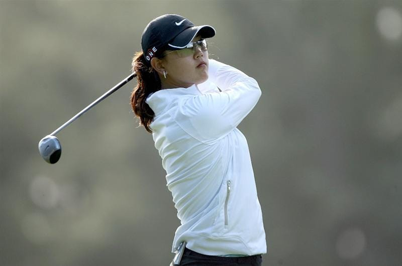KAHUKU, HI - FEBRUARY 13:  Michelle Wie hits her tee shot on the 16th hole during the second round of the SBS Open on February 13, 2009 at the Turtle Bay Resort in Kahuku, Hawaii.  (Photo by Andy Lyons/Getty Images)