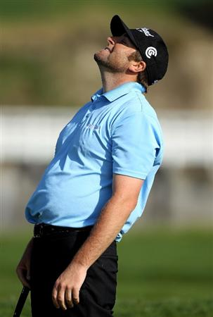 PEBBLE BEACH, CA - FEBRUARY 13:  Steve Marino reacts after making a putt on the 17th hole during round three of the AT&T Pebble Beach National Pro-Am at Pebble Beach Golf Links on February 13, 2010 in Pebble Beach, California.  (Photo by Ezra Shaw/Getty Images)