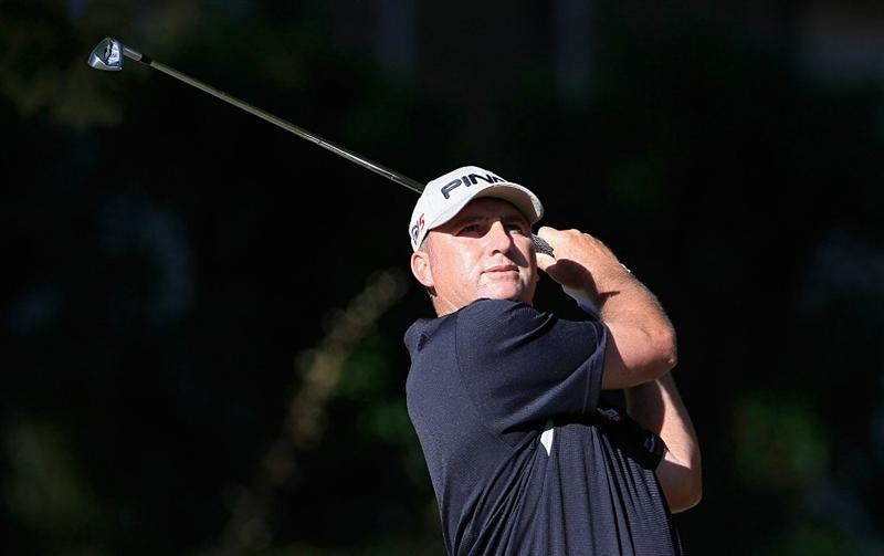 MADISON, MS - OCTOBER 01:  Bill Lunde watches his shot during the second round of the Viking Classic held at Annandale Golf Club on October 1, 2010 in Madison, Mississippi.  (Photo by Michael Cohen/Getty Images)