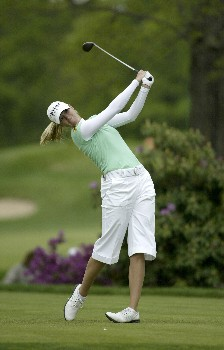 Catherine Cartwright drives during the second round of the 2005 Sybase Classic at Wykagyl Country Club in New Rochelle, New York on May 20, 2005.Photo by Michael Cohen/WireImage.com