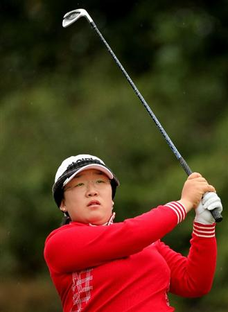 SHIMA, JAPAN - NOVEMBER 09: Ji-Yai Shin of South Korea makes a tee shot on the 5th hole during the final round of 2008 Mizuno Classic at Kintetsu Kashikojima Country Club on November 9, 2008 in Shima, Mie, Japan. (Photo by Koichi Kamoshida/Getty Images)