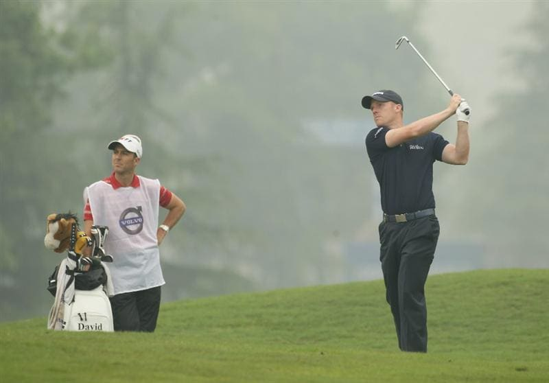 CHENGDU, CHINA - APRIL 21:  David Horsey of England in action during first round of the Volvo China Open at Luxehills Country Club on April 21, 2011 in Chengdu, China.  (Photo by Ian Walton/Getty Images)