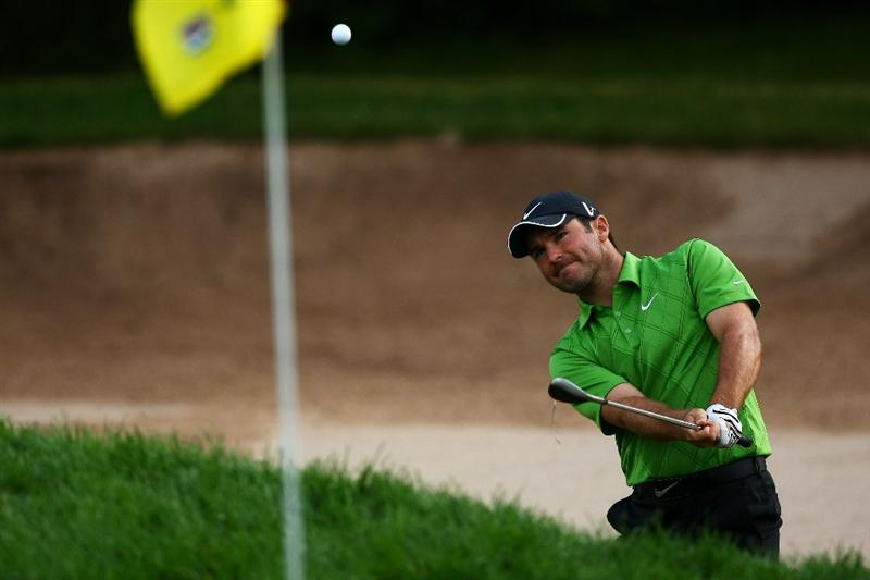 OAKVILLE, ONTARIO - JULY 23: Trevor Immelman of South Africa plays out of the bunker on the third green during round one of the RBC Canadian Open at Glen Abbey Golf Club on July 23, 2009 in Oakville, Ontario, Canada.  (Photo by Chris McGrath/Getty Images)
