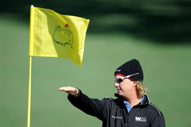 AUGUSTA, GA - APRIL 05:  Charley Hoffman is seen during a practice round prior to the 2011 Masters Tournament at Augusta National Golf Club on April 5, 2011 in Augusta, Georgia.  (Photo by Harry How/Getty Images)