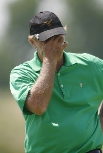 Graham Marsh after missing a putt on hole #18 during the second round of the U.S. Senior Open at Prairie Dunes Country Club in Hutchinson, Kansas on July 7, 2006.Photo by G. Newman Lowrance/WireImage.com