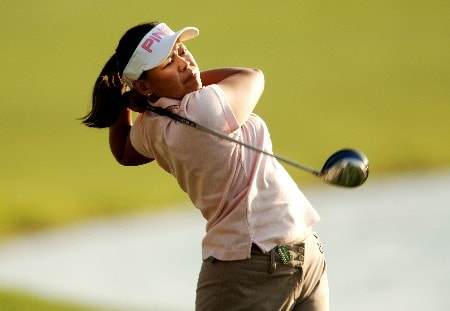 Dorothy Delasin in action during the second round of the LPGA's 2005 Kraft Nabisco Championship, at Mission Hills Country Club in Rancho Mirage, California March 25, 2005.
