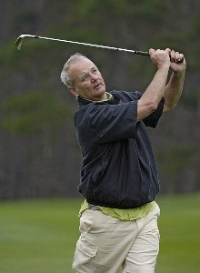 Bill Murray during the second round of the  AT&T Pebble Beach National Pro-Am on Spyglass Hill Golf Course in Pebble Beach, California on February 10, 2006.Photo by Marc Feldman/WireImage.com