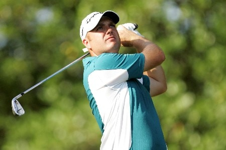 TULSA, OK - AUGUST 10:  Graeme Storm of England hits a shot on the fifth hole during the second round of the 89th PGA Championship at the Southern Hills Country Club on August 10, 2007 in Tulsa, Oklahoma.  (Photo by Streeter Lecka/Getty Images)