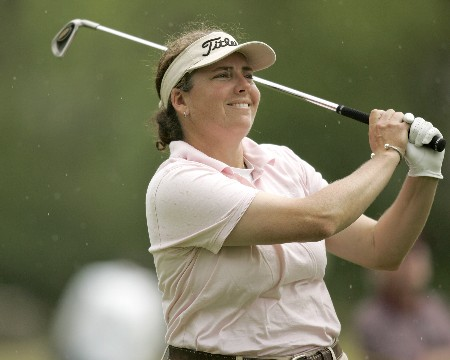LPGA-Corning Classic-2nd Round: Moira Dunn on the 8th hole during the second round of the Corning Classic being held at the Corning Country Club in Corning, New York on May 27, 2005.Photo by Mike Ehrmann/WireImage.com