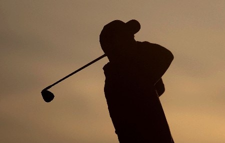 MARANA, AZ - FEBRUARY 19:  Tiger Woods hits a shot during a practice round prior to the start of the Accenture Match Play Championship at The Gallery Golf Club at Dove Mountain on February 19, 2008 in Marana, Arizona.  (Photo by Scott Halleran/Getty Images)